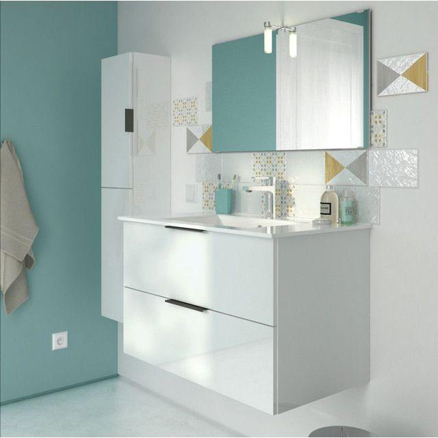meuble de salle de bains blanc 80cm noub castorama