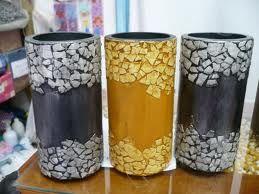 jarrones decorados con cascaras de huevo pintadas - Jarrones Decorados