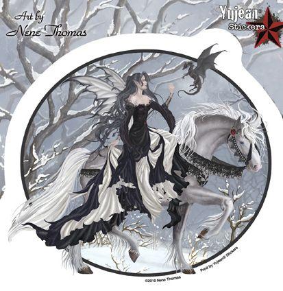 Fairy · nene thomas winter fairy sticker