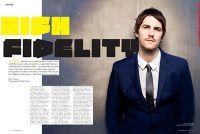 "Status Magazine- ""High Fidelity"" featuring Jim Sturgess"