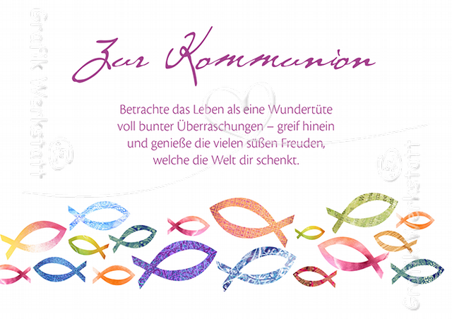 Zur Kommunion Doppelkarten Grafik Werkstatt Bielefeld