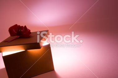 Gift box with room for text Royalty Free Stock Photo