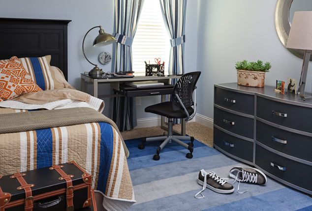 Blue Bedroom For Teenage Boys the ellen dream house teen boy room | designed and furnished