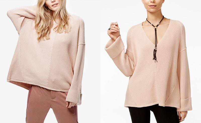 Free People La Brea V-Neck Sweater - Free People - Women - Macy's