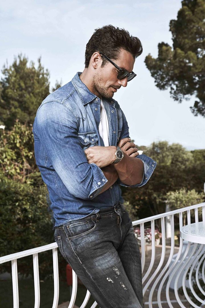 David Gandy in ELLE Magazine (US) for Dolce & Gabbana #LightBlue shot in Capri, Italy photography by Adriano Russo #2016