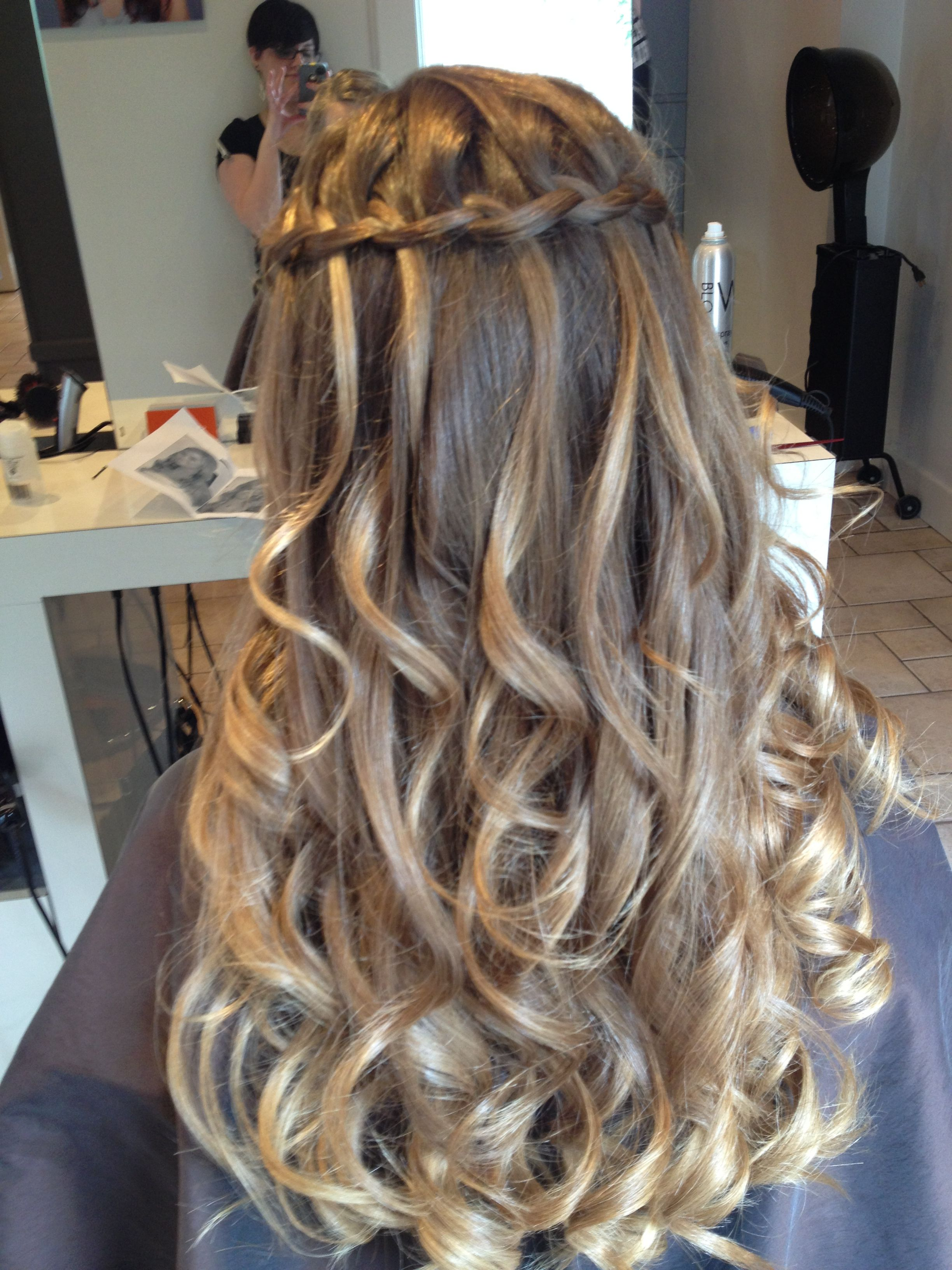 Waterfall Braid Wedding Shower Thoughts Pinterest Party Hair Hair Style And Updos