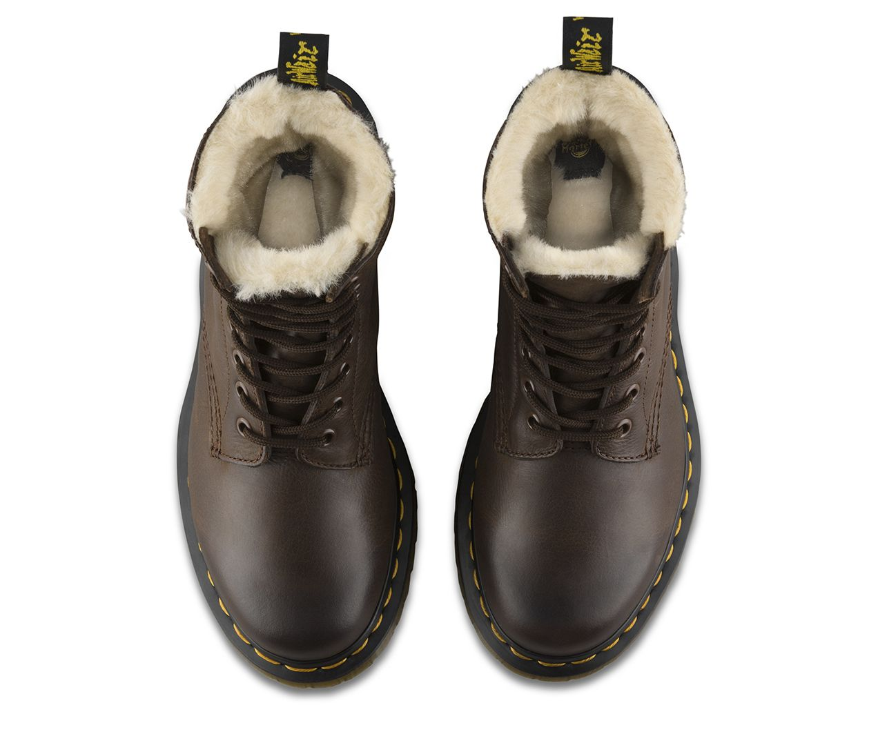 69962e53319f This is a winter twist on the classic Dr. Martens 8-eye boot.