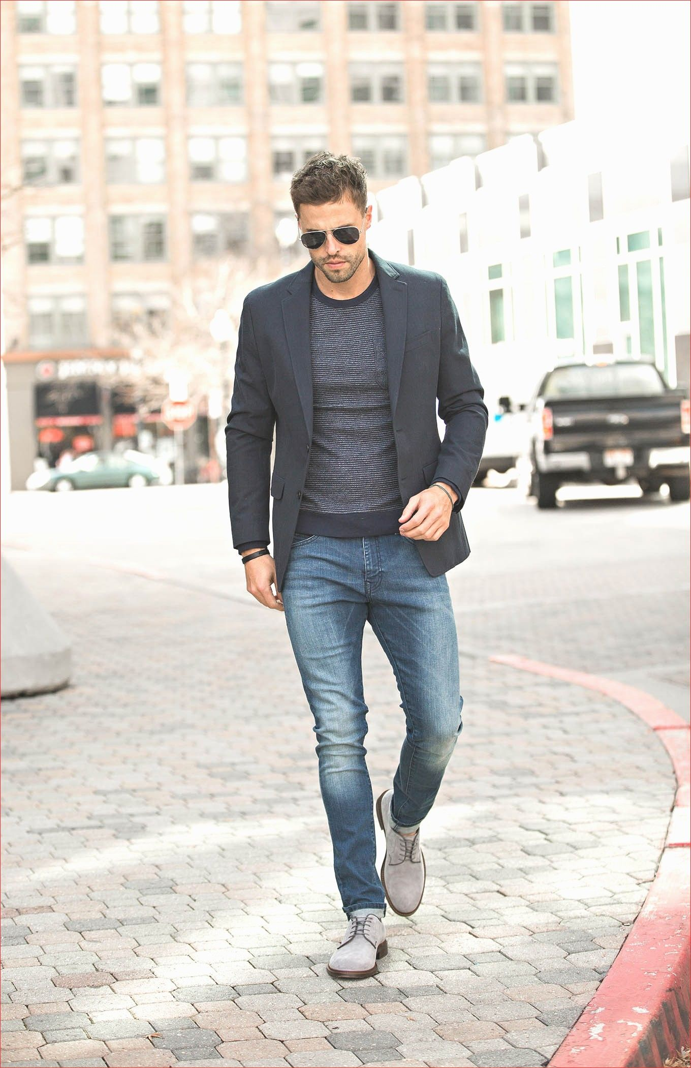 Beautiful Mens Grey Blazer Outfit Business Casual Jackets ...