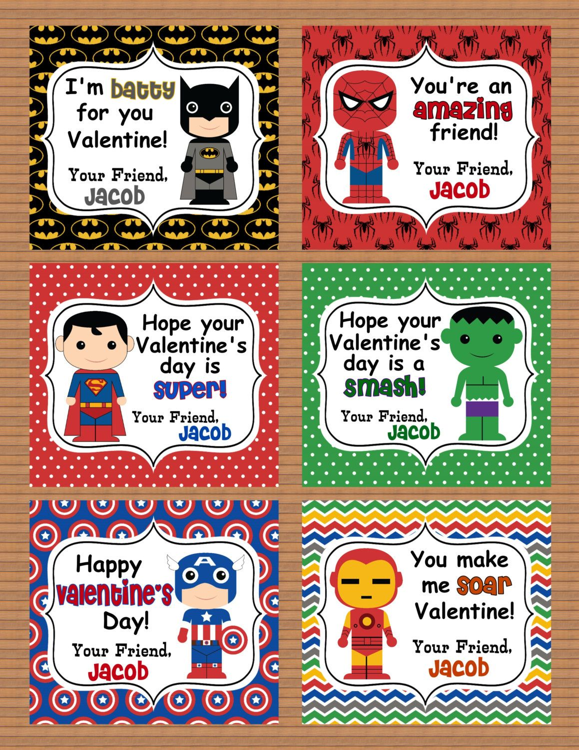 personalized superheroes