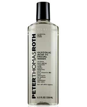 Peter Thomas Roth Glycolic Acid 3% Facial Wash (670367212080) Helps reduce the appearance of fine lines, wrinkles and other signs of aging. Removes dead skin cells and smoothes out rough texture creating luminous, glowing skin.