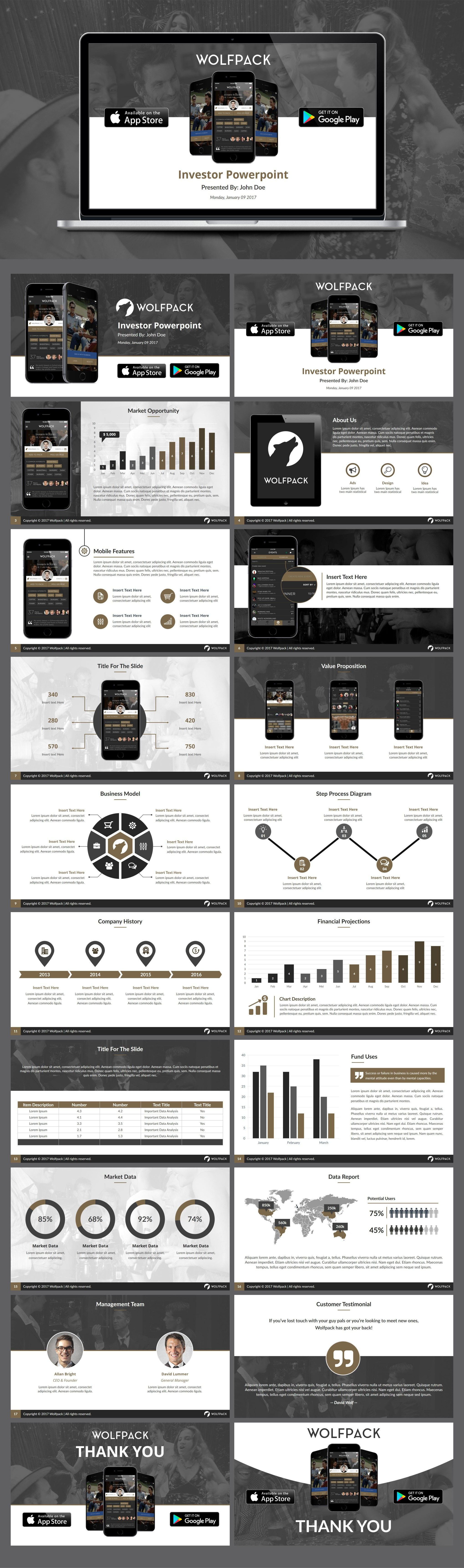 Designs | Design a Pitch Deck of a Cool App | PowerPoint template ...