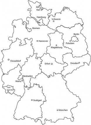Deutschlandkarte Germany Map Vector For Free Download