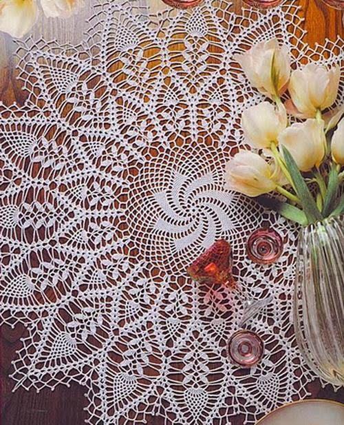 Crochet-doily-2 | häkeln - Tischdecken - rund | Pinterest | Deckchen ...
