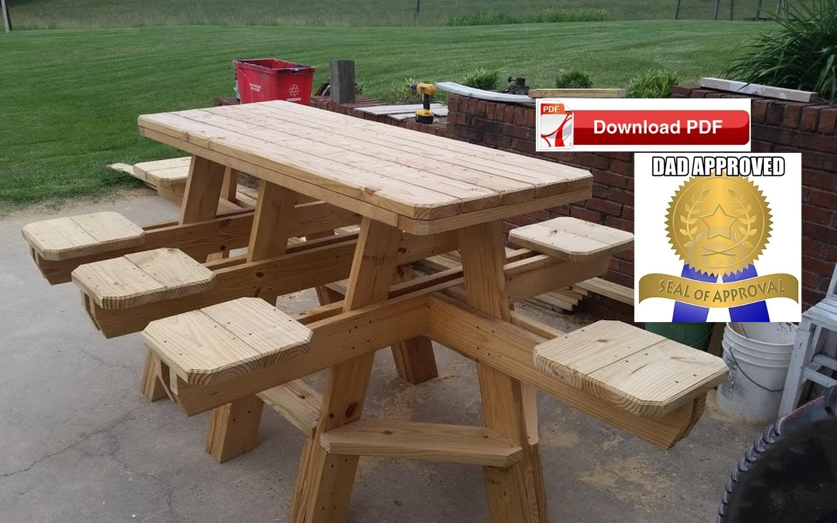 8 Seat Picnic Table Plan Bbq Table Plan Picnic Table Plan Wood Etsy Bbq Table Picnic Table Picnic Table Plans