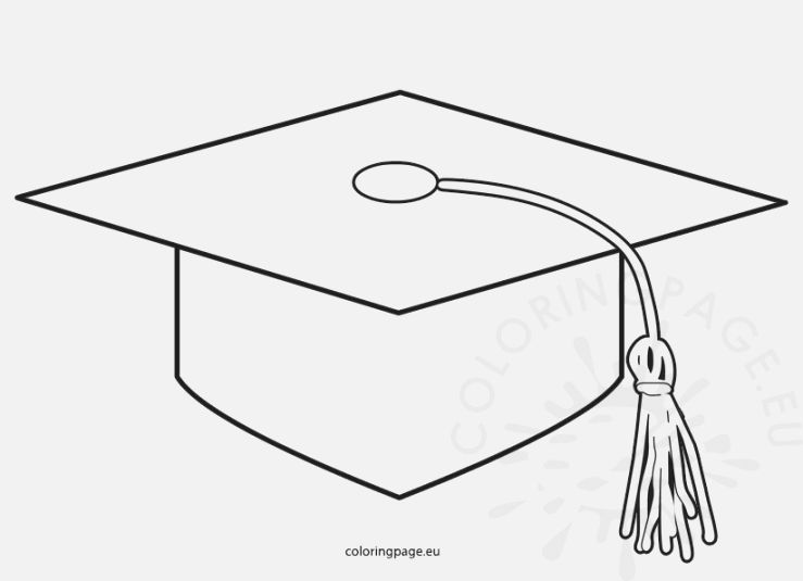 Graduation Cap Graduation Cap Graduation Images Coloring Pages