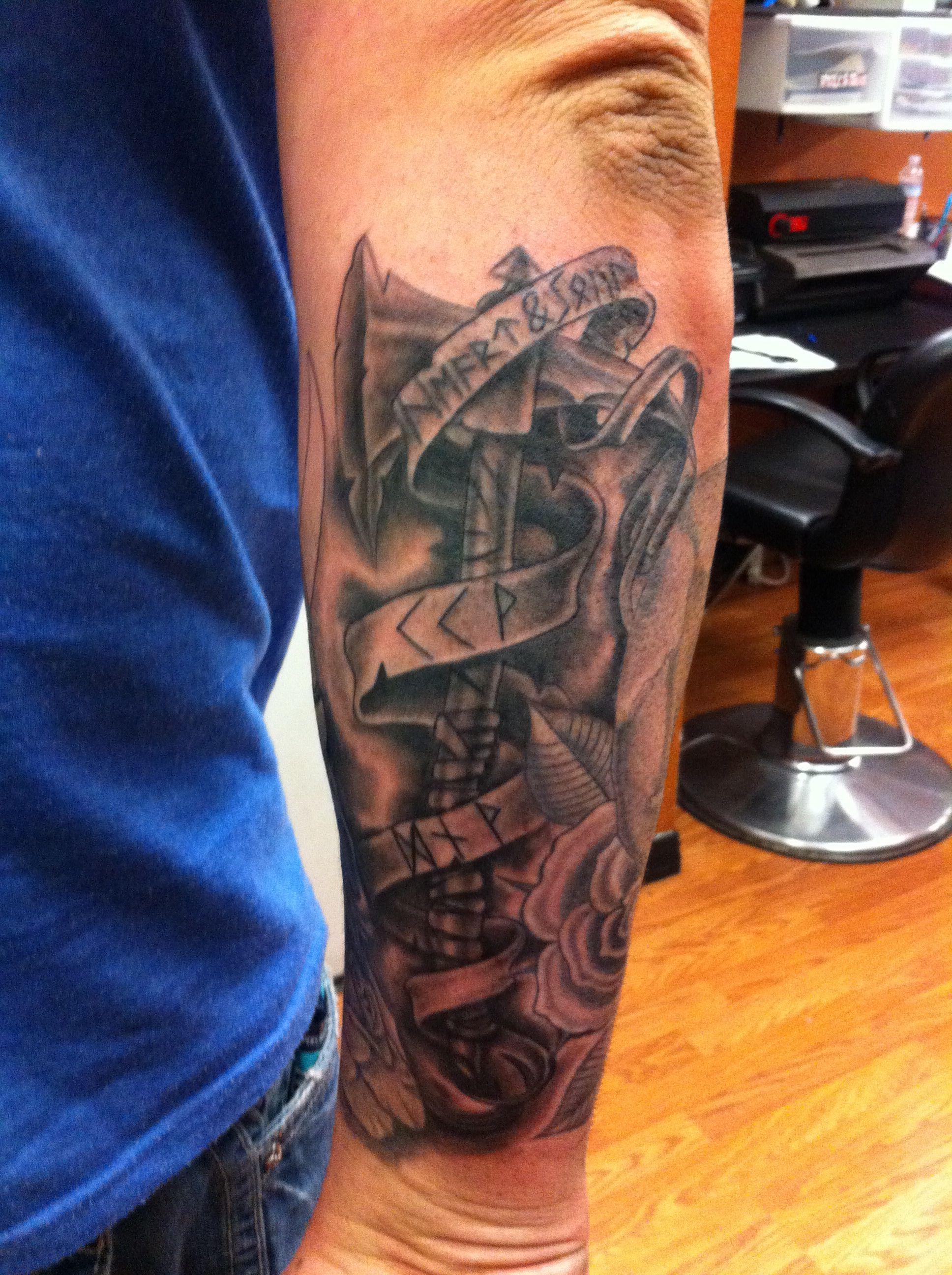 Warrior Viking Tattoo: Viking Warrior Axe On My Outer Right Forearm-fifth Sun
