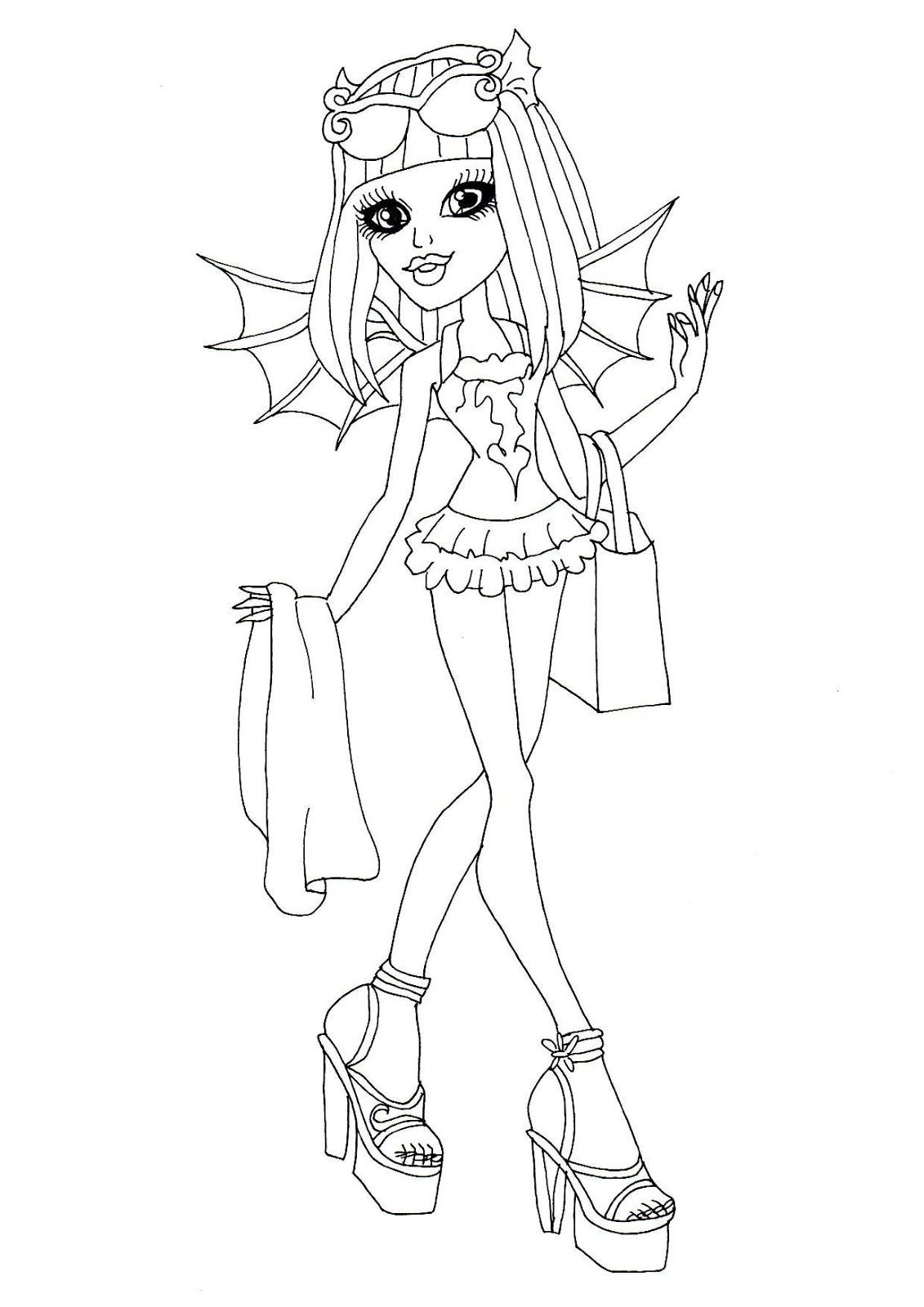 Monster High Ausmalbilder Rochelle Goyle : Monster High Rochelle Goyle Monster High Coloring Pages