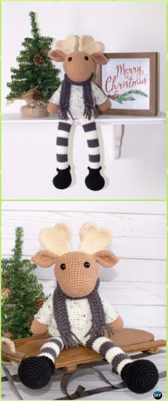 Amigurumi Crochet Moose Toy Softies Free Patterns | Navidad, Navidad ...