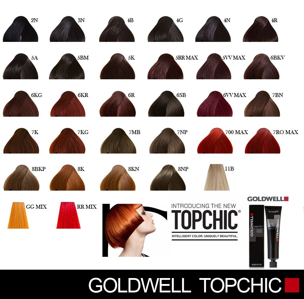 Goldwell Topchic Hair Dye Colors Mixing Hair Color