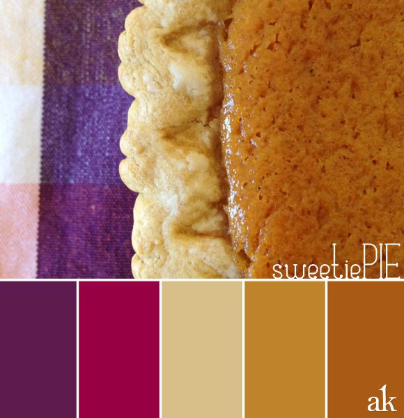 a pie-inspired color palette