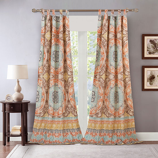 barefoot bungalow olympia tabtop curtain panel  jcpenney