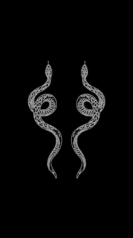 Pin By Ambrine Delande On Banner In 2020 Snake Wallpaper Black Aesthetic Wallpaper Snake Drawing