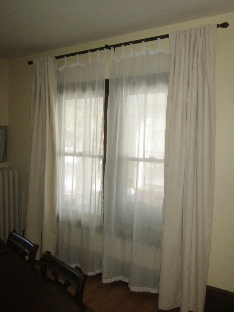 Double Rod Curtains For Living Room   Double rod curtains, Double ...