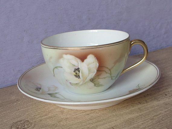 Antique 1800's Royal Rudolstadt Prussia tea cup by ShoponSherman