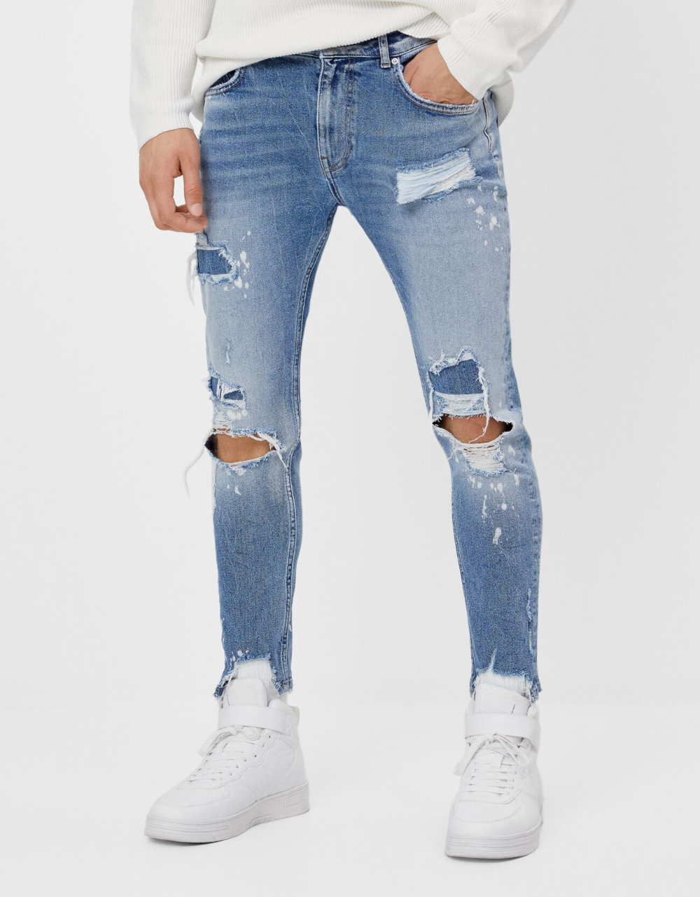 Ripped Skinny Jeans Available In Blue Ripped Skinny Jeans Ripped Jeans Men Mens Jeans