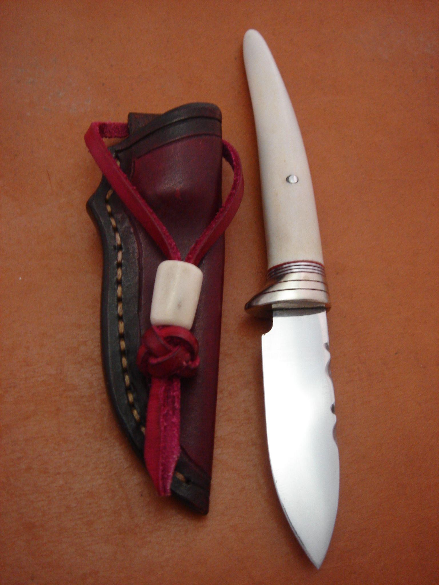 Cuchillo Con Mango De Cuerno Pulido Stag Knife Cuchillos Cuchillos Artesanales Hachas
