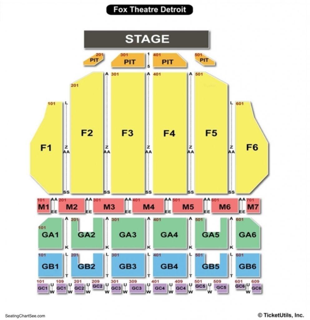Amazing Fox Theater Interactive Seating Chart