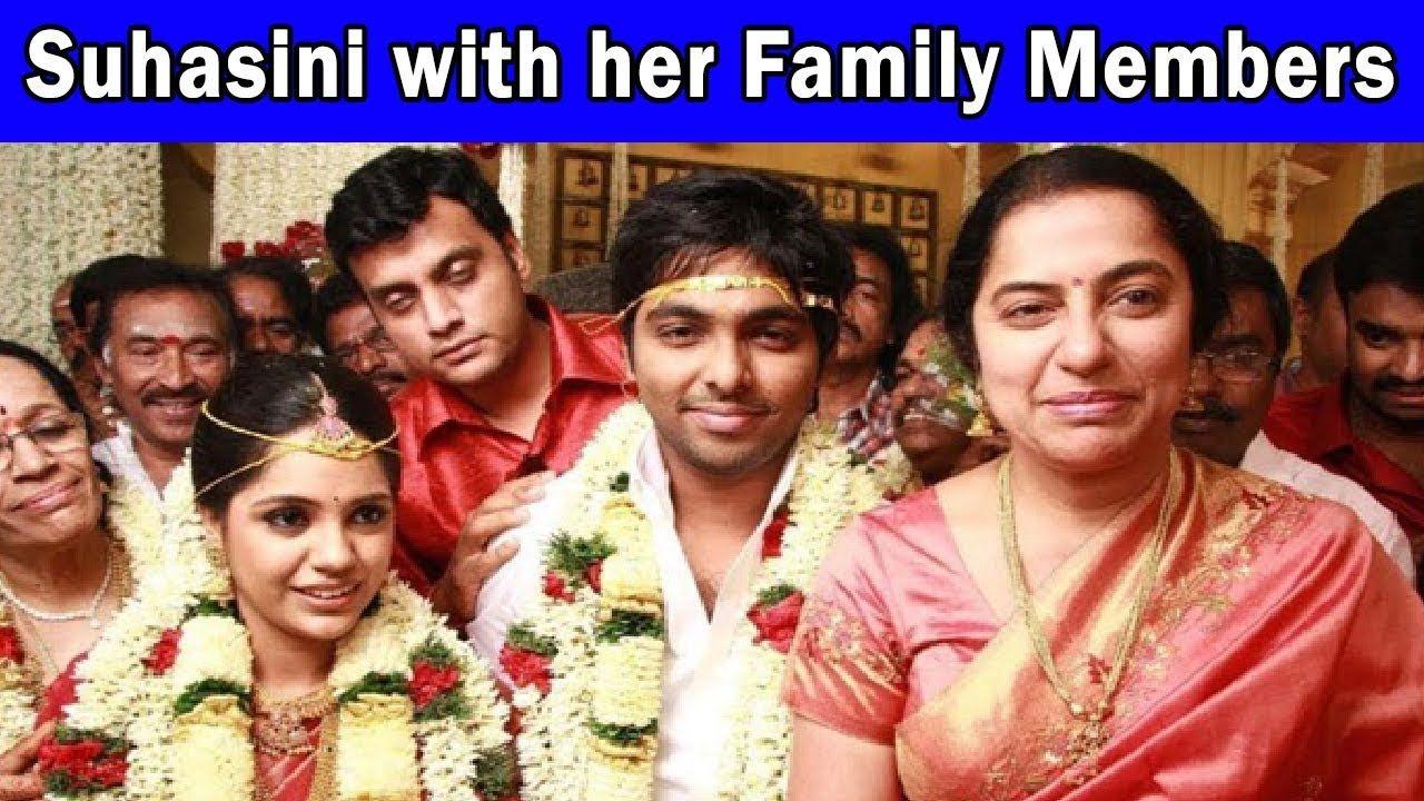 Actress Suhasini Family Photos With Husband Son And Parents Suhasini Family Photos Actresses Photo