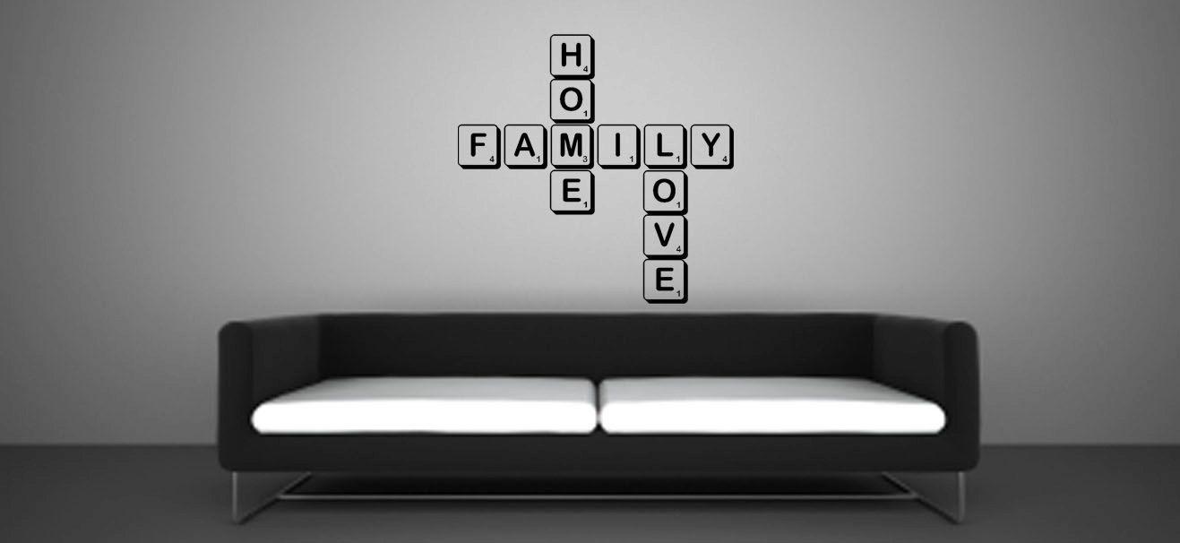 Family Scrabble Words Vinyl Decal. £15.00, via Etsy.