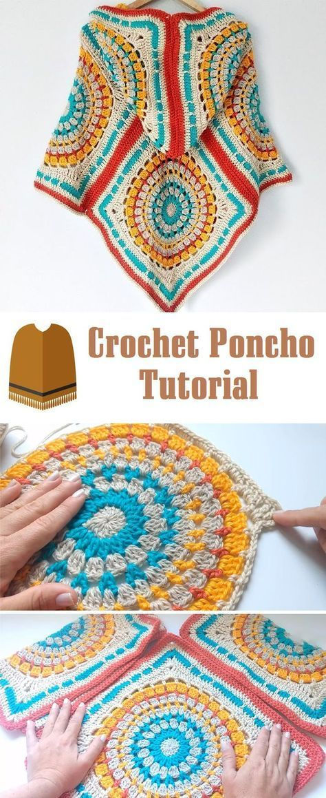 How to Crochet a Poncho in 2018 | ponchos | Pinterest | Häkeln ...