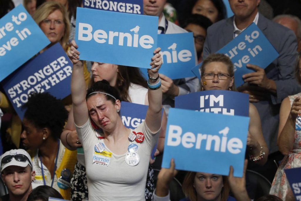 Image result for bernie supporters crying