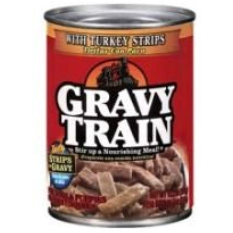 Gravy Train Strips In Gravy with Turkey Strips Dog Food