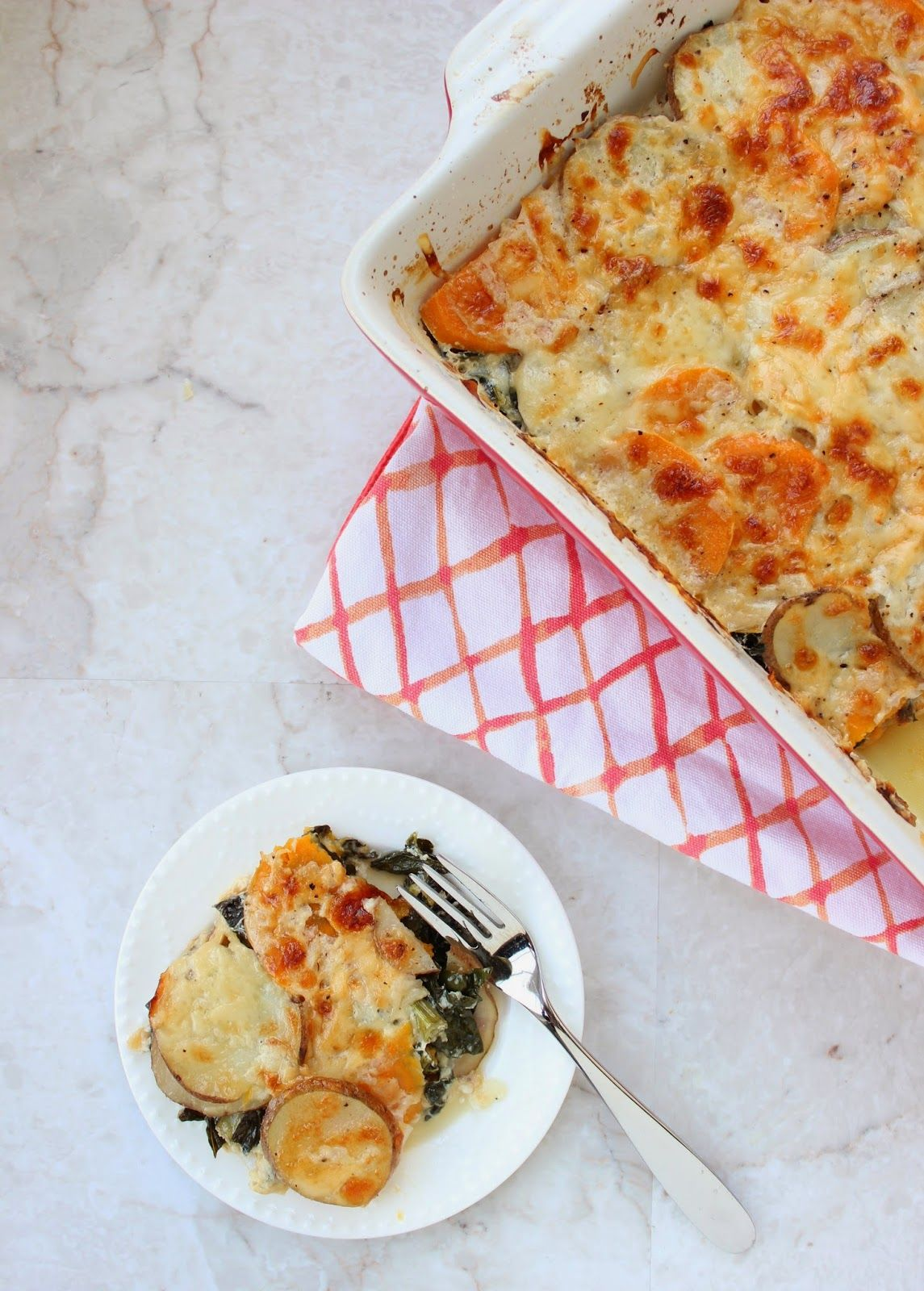 Stew or a Story: Mixed Potato & Kale Au Gratin