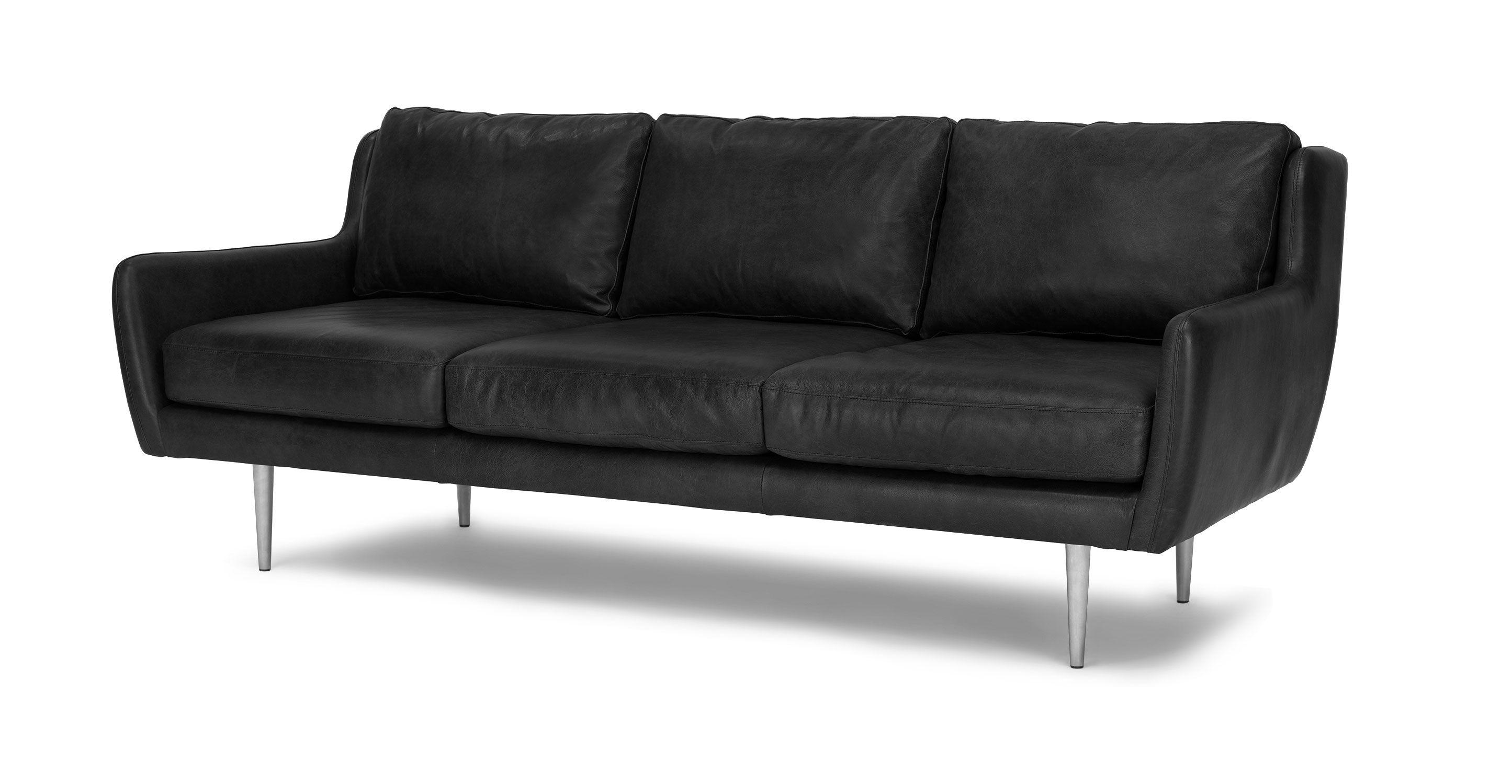 Matrix Oxford Black Sofa   Mid century modern sofa, Blue ...