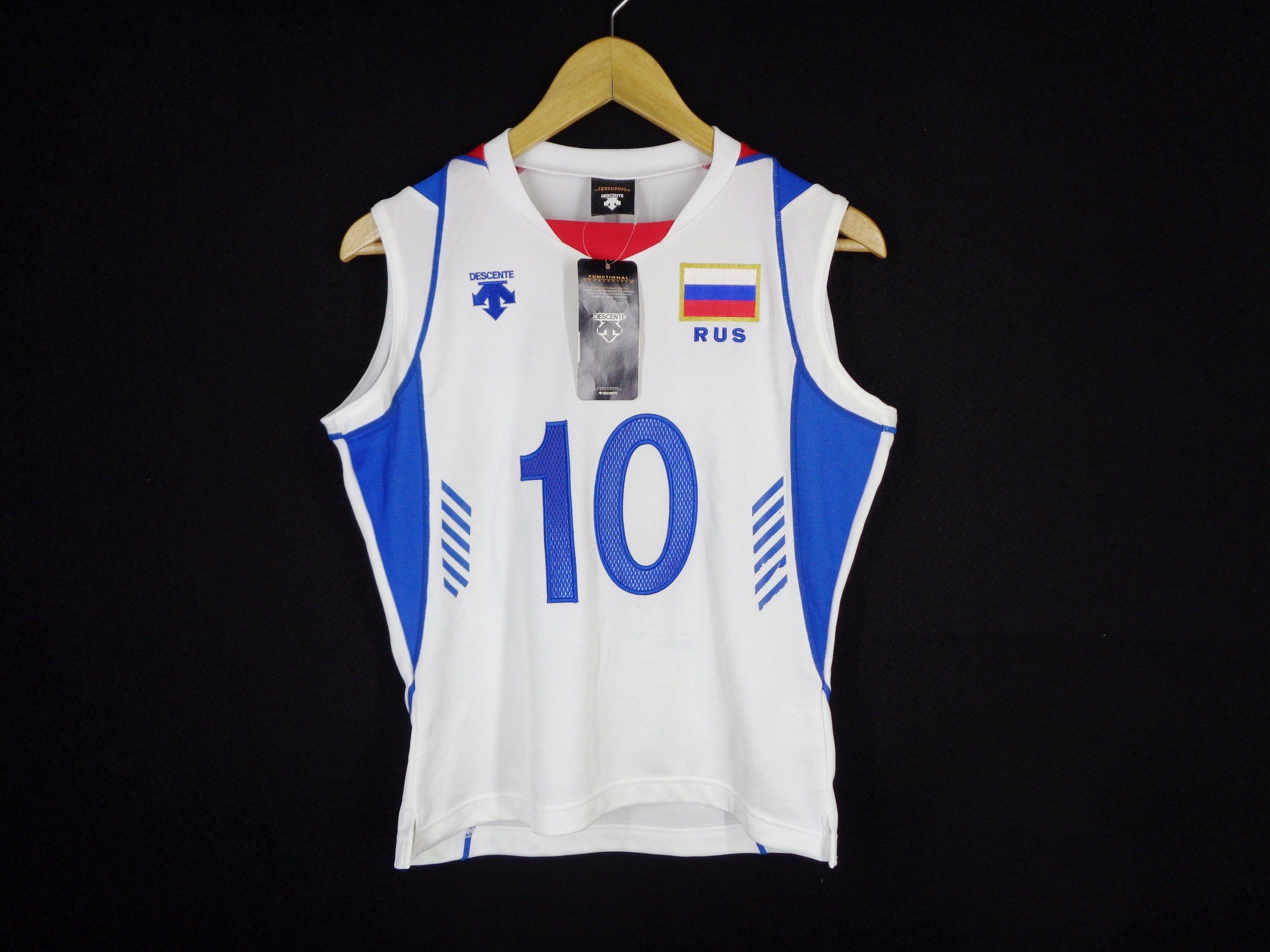 Russia Volleyball Jersey Russia Maslova 10 Jersey Russia Volleyball Activewear By Descente Made In Japan Jersey S Womens Shirts Jersey Shirt Volleyball Jerseys