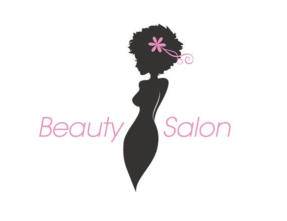 Beauty Salon Logo Instant Download Silhouette Spa Logo Etsy Beauty Salon Logo Salon Logo Spa Logo Design