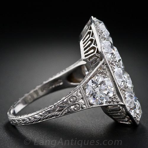 Stunning Art Deco Diamond Dinner Ring - 10-1-4088 - Lang Antiques
