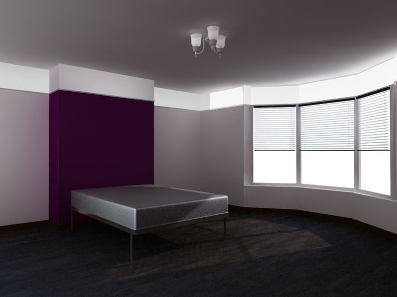 Master Bedroom Grey Walls With Purple Accent Wall Master Bath Purple Wall With Grey Recamaras