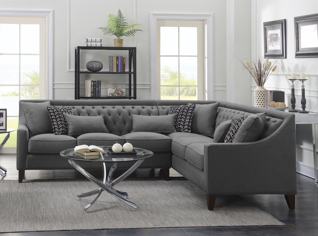 zivah solid lshaped sectional in 2020  sectional sofa