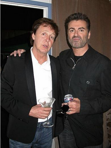 Paul McCartney and George Michael (med bilder)