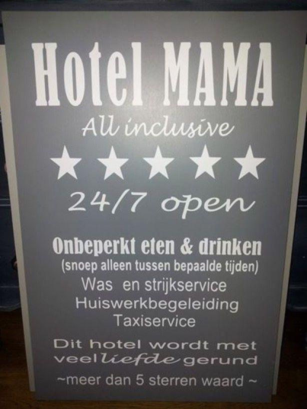 Citaten Scribbr Xxl : Mooi xxl hotel mama bord door vanetjes spreuken en