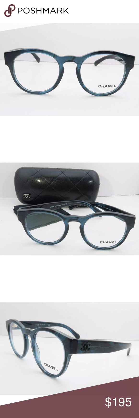f9f0fa41dee8 Chanel Eyeglasses 3346 Blue Frame New with clear lens Comes with Chanel  case Authentic CHANEL Accessories Glasses