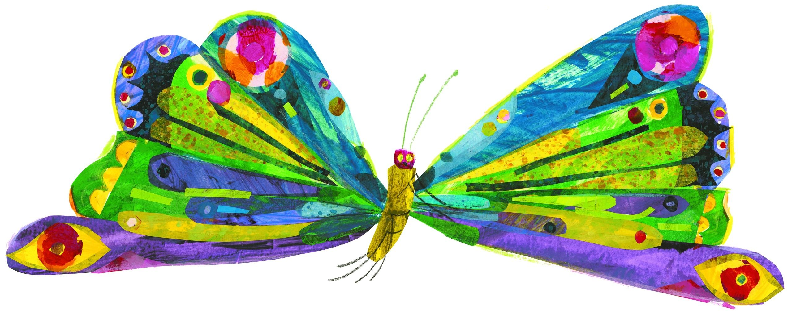 very hungry caterpillar butterfly clipart free clipart [ 2560 x 1011 Pixel ]