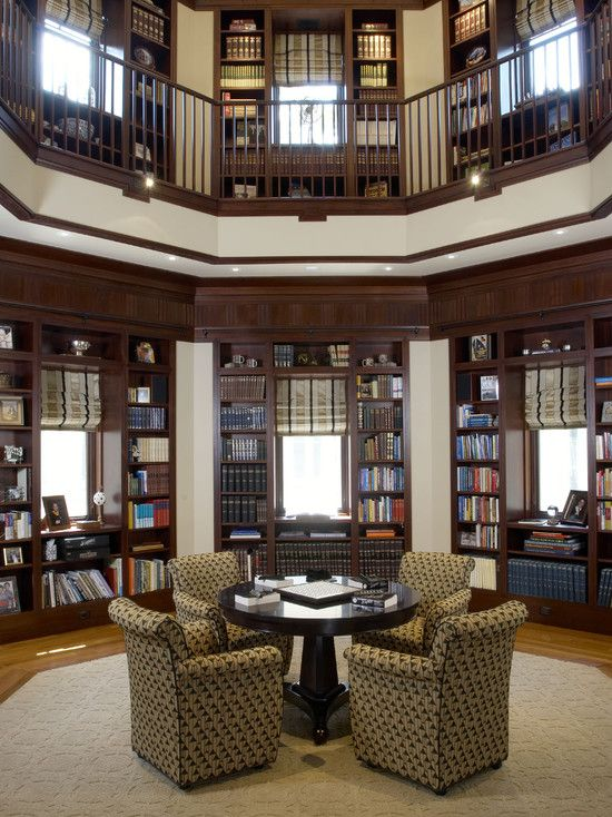 Traditional Home Library Design Ideas: Traditional Home Office Design, Pictures, Remodel, Decor