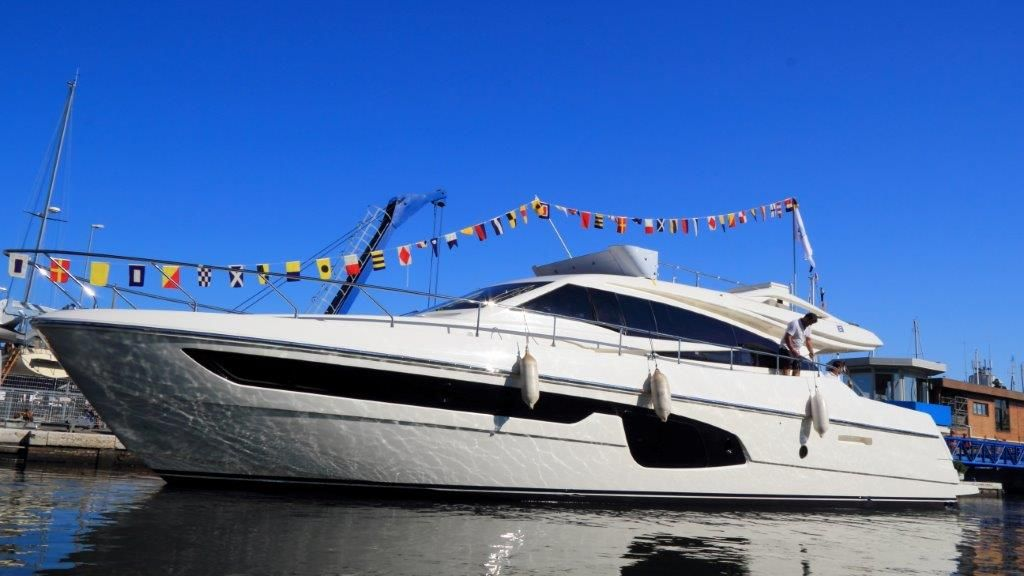 The first hull of the Ferretti Yachts 650 has been launched: the new yacht will make its debut at a worldwide level at next Cannes Boat Show #Yacht #Luxury #MadeInItaly