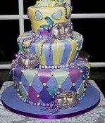 Mardi Gras Decorated Cake